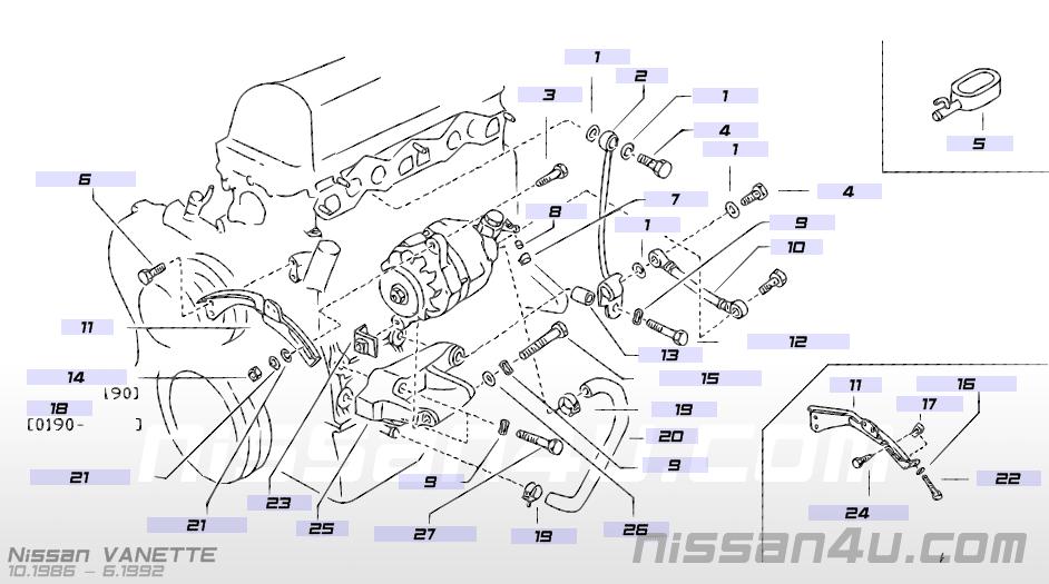 Alternator ing & alternator — Illustration #1, Nissan ... on