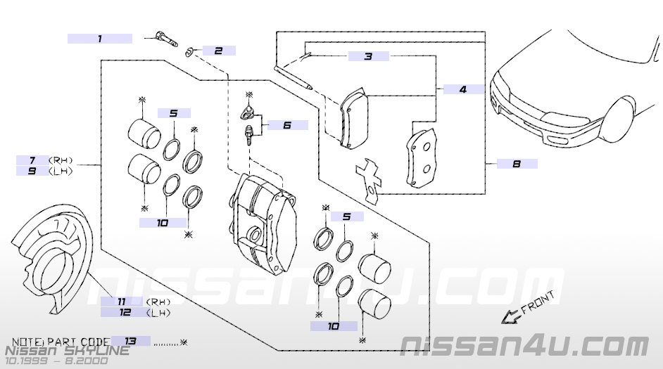 Online Nissan Part Numbers And Ills Catalog Gtr Register: Nissan Parts Catalog With Part Numbers At Diziabc.com