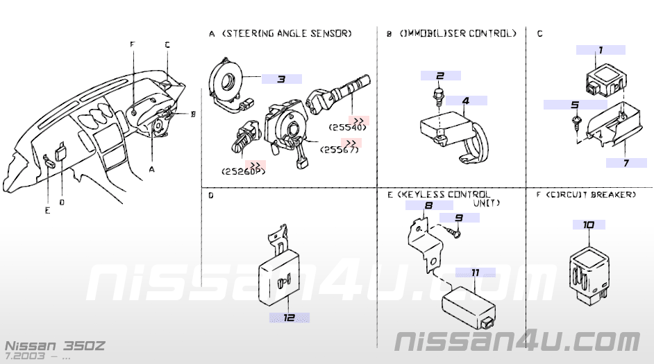 Electrical unit â Illustration #4, Nissan 350Z 2005
