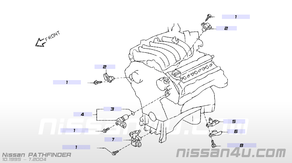 2001 Nissan Sentra Camshaft Sensor Location on 2007 nissan versa fuse box diagram