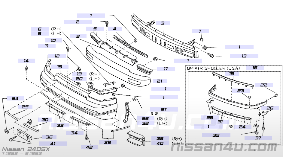 Nissan part numbers and illustrations | Nissan Forum